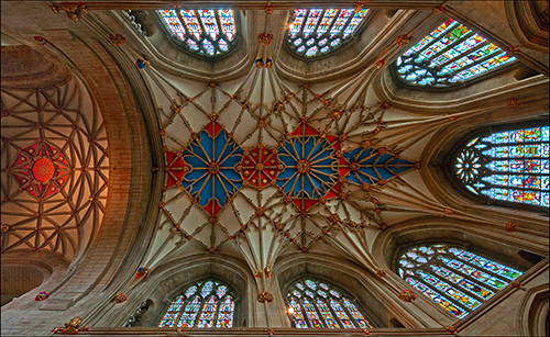 Looking up- Tewkesbury Abbey
