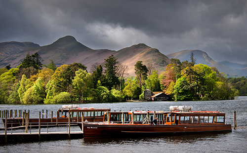 At Derwent Water - with ferry boats