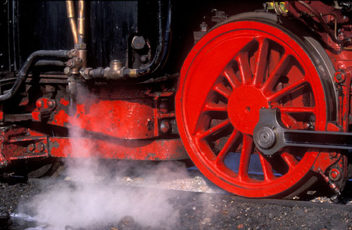Steam & Red Wheel